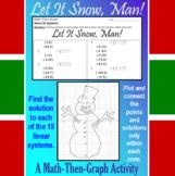 Let it Snow, Man! - A Math-Then-Graph Activity - 15 Systems