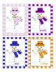 Christmas Snowman Color Flash cards SMALL