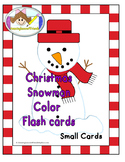 Christmas Snowman Color Flash cards SMALL
