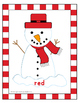 Christmas Snowman Color Posters and Flash Cards LARGE