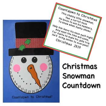 Christmas Countdown Snowman