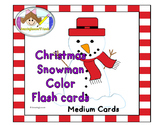 Christmas Snowman Flash Cards Medium