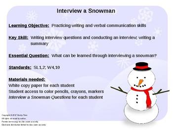 Christmas Snowman Interview