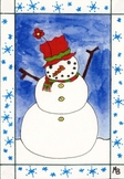 Christmas Snowman Poem, Poster, Christmas Frame, and Color