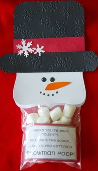 Christmas Snowman Poop student gift (Set of 12)