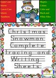 Christmas Snowman Tracing and Writing Mats and Sheets