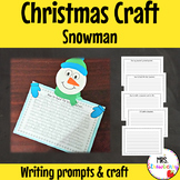 Christmas Snowman Writing Prompts and Craft
