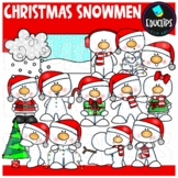 Christmas Snowmen Clip Art Bundle {Educlips Clipart}