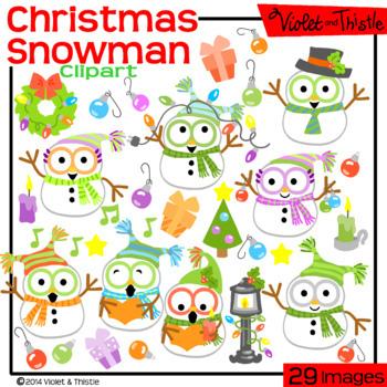 Christmas SALE! Snowmen Clipart Christmas Clip Art