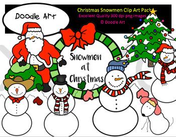 Christmas Snowmen Clipart Pack