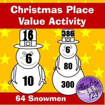 Christmas Snowmen Place Value Activity