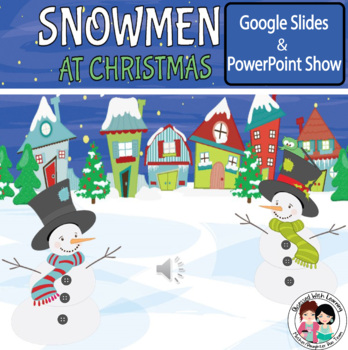 Snowmen At Christmas.Christmas Snowmen At Christmas Powerpoint
