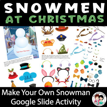 Snowmen at Christmas Writing Craftivity