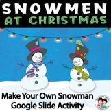Christmas - Snowmen at Christmas Writing Craftivity Lesson Plan
