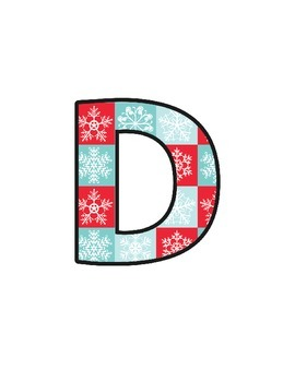 Christmas Snowy Lettering (upper/lowercase, cursive, numbers, shapes, symbols)