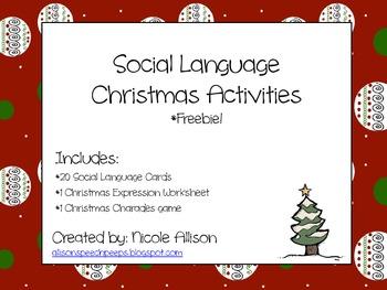 Christmas Social Language Packet *Freebie*