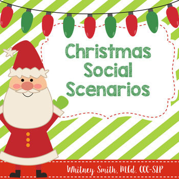 Christmas Social Scenarios for Autism and Speech Therapy