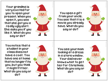 christmas social scenarios for autism and speech therapy by whitneyslp