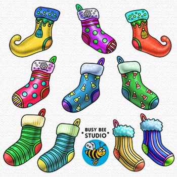 Christmas Socks Clip Art