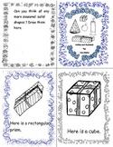 Christmas Solid Shapes / 3D shapes Emergent Reader for Kindergarten