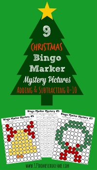 Christmas Solve & Stamp - FUN Math Practice for December