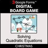 Christmas: Solving Quadratic Equations - Digital Board Gam