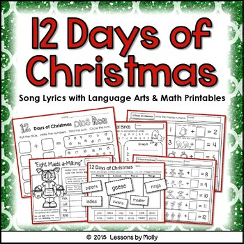 12 Days of Christmas Song - Math and Language Arts Integration