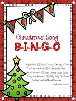 Christmas Activities:  Christmas Song Bingo