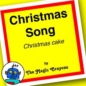 English Christmas (Xmas Cake) Song 1 for ESL, EFL, Kindergarten. Santa Claus