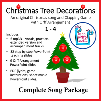 "Christmas Song & Clapping Game | ""Christmas Tree Decorations"" 
