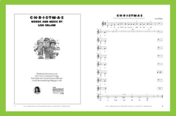 Christmas Song | Classroom or Performance | Gr 1-4 | PDF with Sheet Music Only