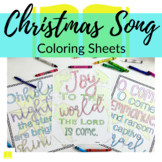 Christmas Song Coloring Sheets for Sacred Christmas Carols