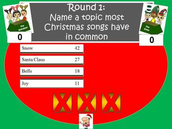 Christmas Song Feud Powerpoint Game