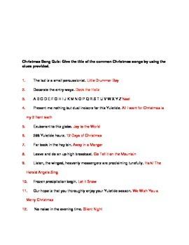Christmas Song Fun Quiz