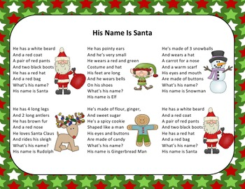Christmas Song – His Name Is Santa + Sing-Along Track (mp3)