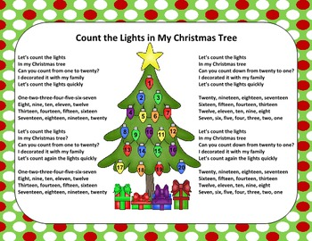 Christmas Song - Lights in My Christmas Tree + Sing-Along Track (mp3)