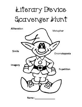 Christmas Song Literary Device Scavenger Hunt