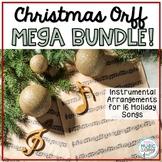 Christmas Song MEGA BUNDLE! 16 Holiday Songs with Rhythmic & Orff Accompaniment