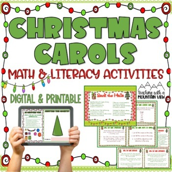 Christmas Song Math and Language Arts Task Cards for Centers ...
