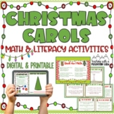 Christmas Song Math and Language Arts Task Cards for Cente