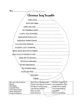 It's just a graphic of Adorable Christmas Song Scramble Free Printable