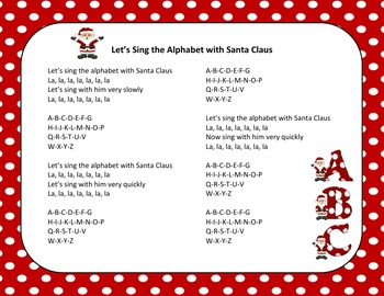Christmas Song - Sing The Alphabet With Santa Claus + Sing-Along Track (mp3)