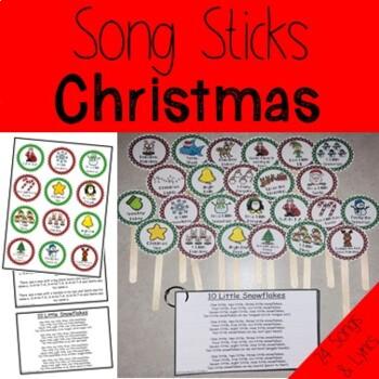 Christmas Song Sticks