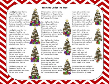 Christmas Song – Ten Gifts Under The Tree + Sing-Along Track (mp3)
