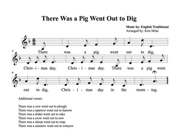 Christmas Song: There Was a Pig Went Out to Dig