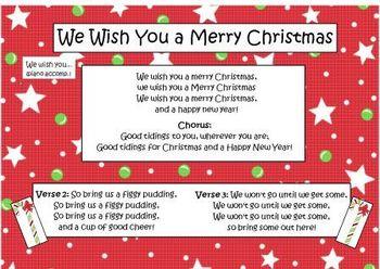 christmas song we wish you a merry christmas - Wish You A Merry Christmas Song