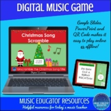 Christmas Song Word Scramble | Digital Music Game
