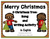 Christmas Song and Writing Activity in English