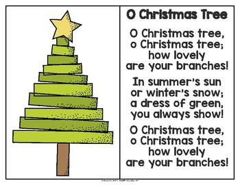 Oh Christmas Tree Oh Christmas Tree.O Christmas Tree Song And Writing Activity In English
