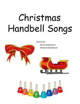 Christmas colored hand bell book for 8 note bells/boomwhac